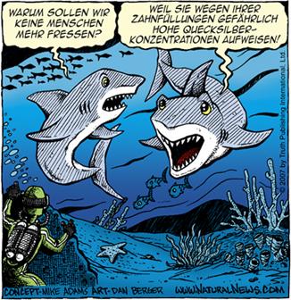 Treffen sich zwei Haie...