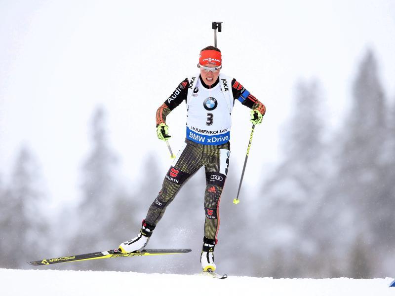Biathletin Dahlmeier wird Weltmeisterin in der Verfolgung