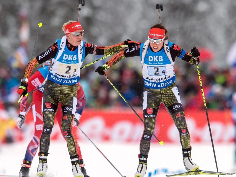 Deutsche Biathletinnen peilen mit Staffel Medaille an