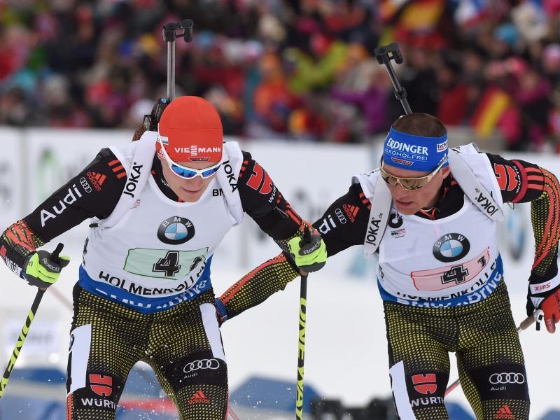 Biathlon-Männnerstaffel erkämpft WM-Silber