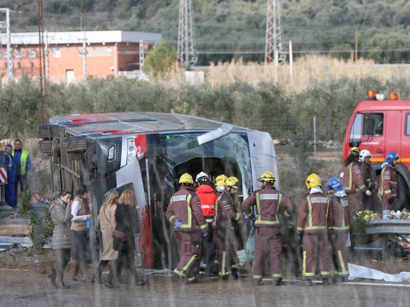 14 Tote bei Busunglück im Nordosten Spaniens