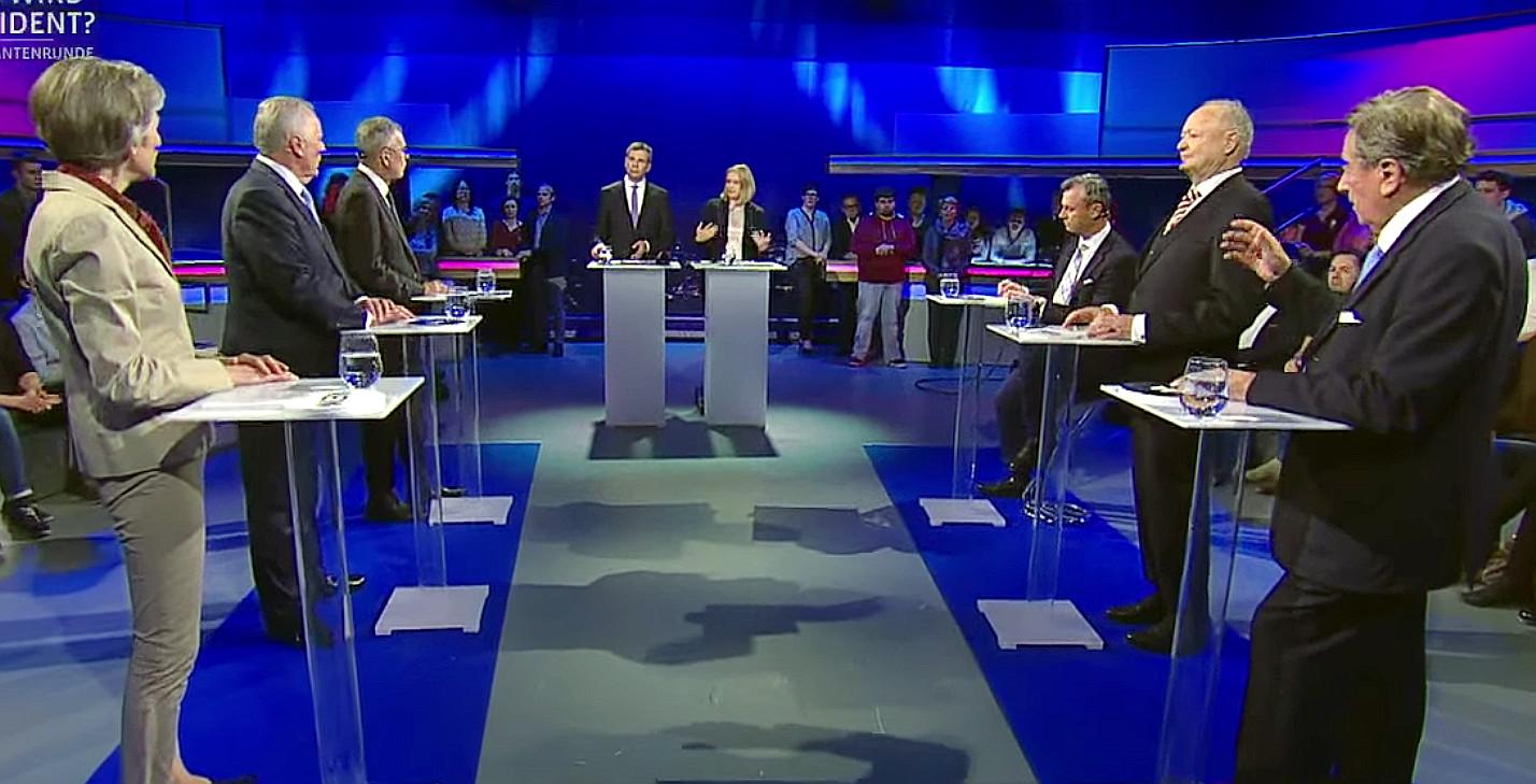 Live-Stream ORF-2: Elefantenrunde vor Bundespräsidentenwahl in Österreich