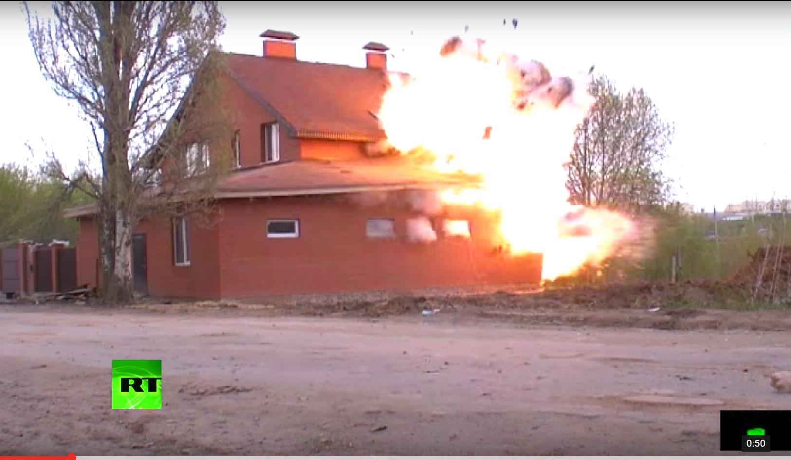 Illegale muslimische Gebetshalle in Russland gesprengt mit dort gefundenen Explosivstoffen (Video)