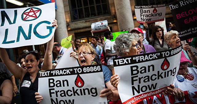 Fracking Gegner in den USA Foto: Andrew Burton/Getty Images