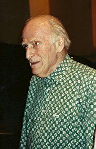 Yehudi Menuhin bei Proben 1997 in Strassburg