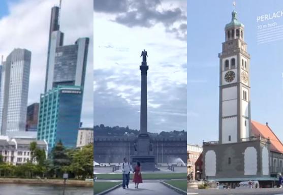 Frankfurt, Stuttgart und Augsburg - drei deutsche Städte mit bald mehrheitlich Einwanderern Foto: Screenshot/Youtube