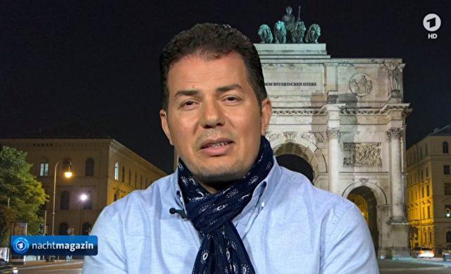 """Der Publizist Hamed Abdel-Samad im Gespräch mit dem ARD-""""Nachtmagazin"""" zum Thema Islamdebatte der AfD. Foto: Screenshot/Youtube"""