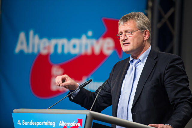 AfD-Chef Jörg Meuthen beim AfD-Bundesparteitag in Stuttgart. Foto: Nigel Treblin/Getty Images
