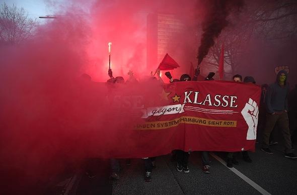 Linksfaschisten in Hamburg Foto: Alexander Koerner/Getty Images