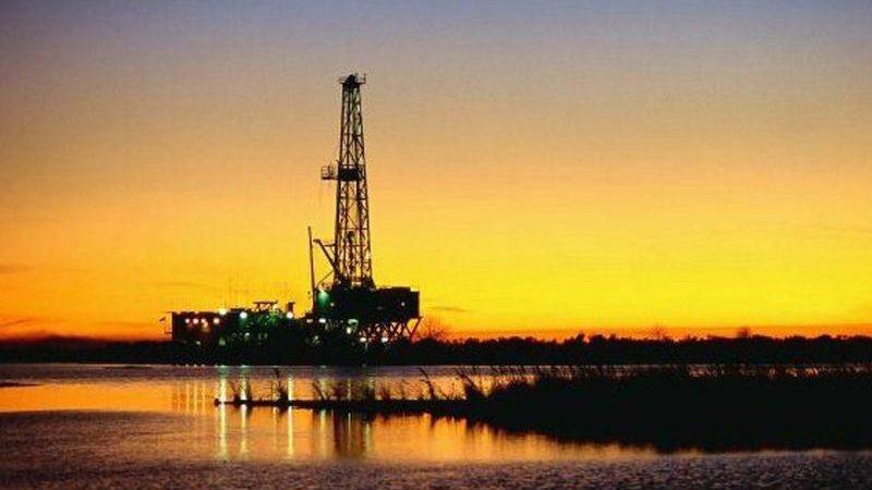 Erdölförderung im Bundesstaat Tabasco, Mexiko.
