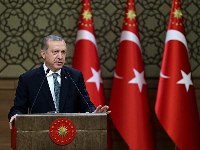 """Der türkische Präsident Erdogan hat für die heutige Kabinettssitzung eine """"wichtige Entscheidung"""" angekündigt. Foto: Turkish Presidential Press Office/dpa"""
