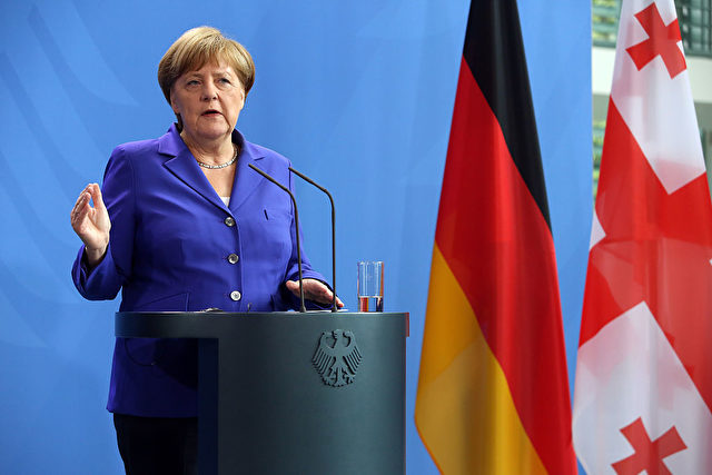 Angela Merkel empfing am 15. Juni Georgiens Premier im Kanzleramt. Foto: ADAM BERRY/AFP/Getty Images