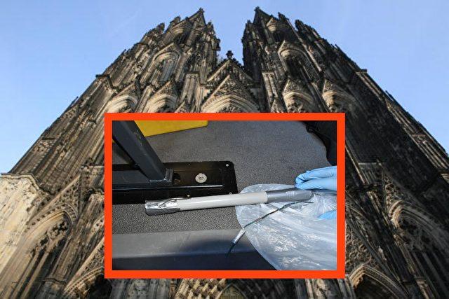 Diese Rohrbombe wurde in der Kölner Innenstadt sichergestellt. Foto: Polizei Köln/JOHN MACDOUGALL/AFP/Getty Images/epd