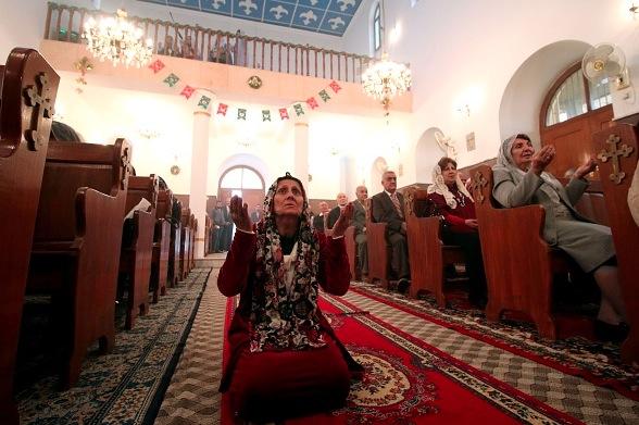 Christen im Irak Foto:  HAIDAR MOHAMMED ALI/Getty Images