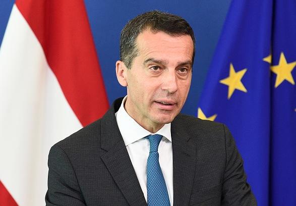 Österreichs Kanzler Christian Kern Foto: JOHN THYS/Getty Images