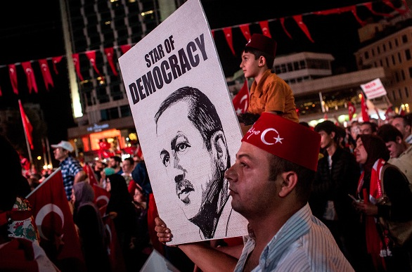 Pro-Erdogan-Demonstrationen nach Putschversuch in der Türkei. Foto: Chris McGrath/Getty Images