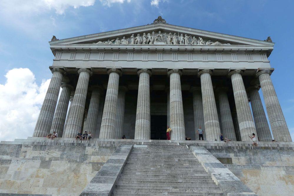 Fassade des Walhalla-Tempels Foto: Bernd Kregel