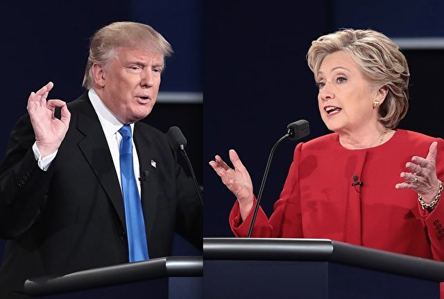 Trump Clinton TV-Duell Getty Drew Angerer