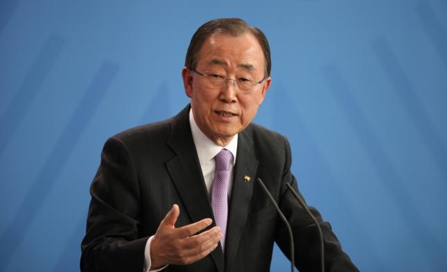 UN-Generalsekretär Ban Ki-moon verabschiedet sich