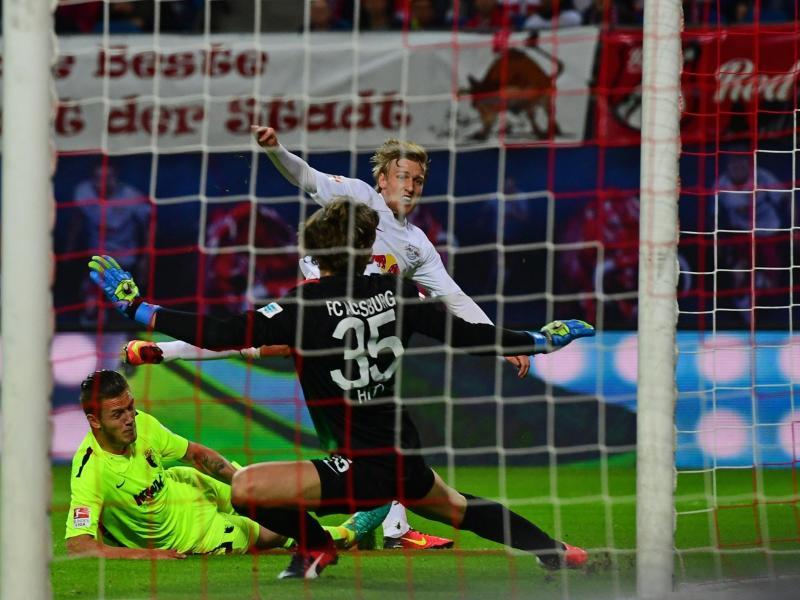 Forsberg erzielt das 500. Pflichtspieltor von RB Leipzig