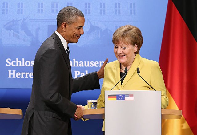 Bundeskanzlerin Angela Merkel und Barack Obama. Foto: Sean Gallup/Getty Images