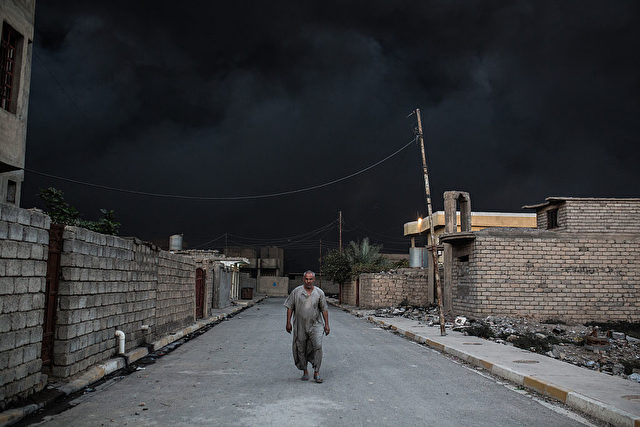 In the biggest Iraqi military operation in years, forces have retaken dozens of villages, mostly south and east of Mosul, and are planning multiple assaults for October 20. / AFP / YASIN AKGUL        (Photo credit should read YASIN AKGUL/AFP/Getty Images)