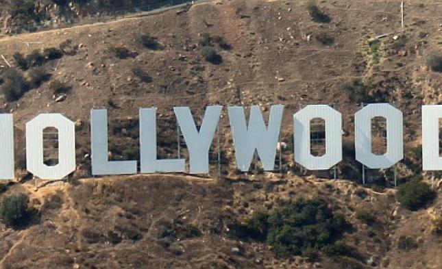 Erdrutsch in den Hügeln von Hollywood