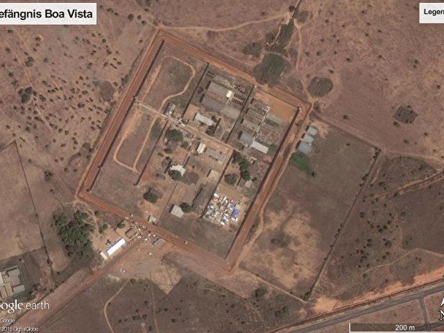 Satellitenbild der Haftanstalt «Penitenciária Agrícola de Monte Cristo» in der Stadt Boa Vista. Foto: Google/dpa/dpa