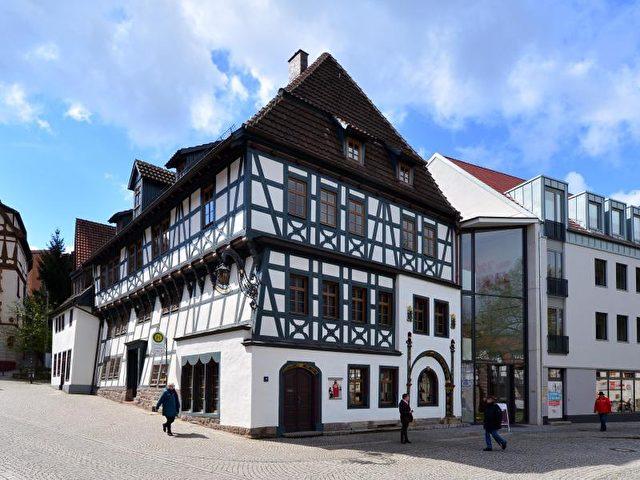 Das sanierte Lutherhaus in Eisenach (Thüringen). Foto: Martin Schutt/dpa