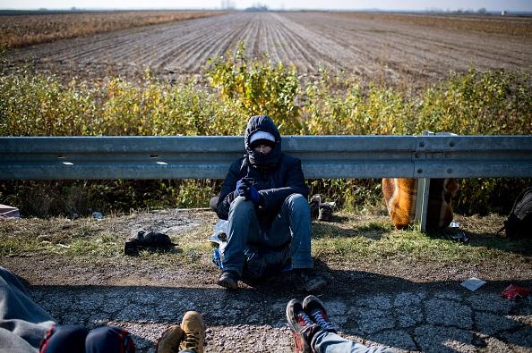 Flüchtling an der serbischen Grenze im November 2016. Foto: ANDREJ ISAKOVIC/AFP/Getty Images)