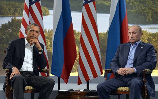 US Präsident Barack Obama (l) und Russlands Präsident Vladimir Putin am 17. Juni 2013. Foto: JEWEL SAMAD/AFP/Getty Images