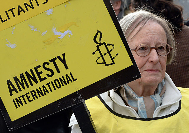 Amnesty International Protest in Russland. 31. Oktober 2013 PIERRE ANDRIEU/AFP/Getty Images