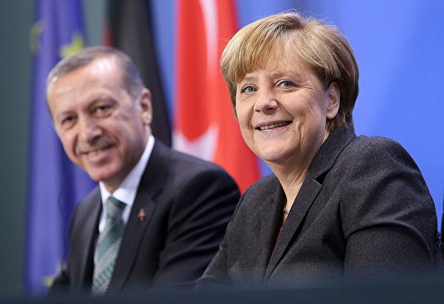 Kanzlerin Angela Merkel und der türkische Staatschef Recep Tayyip Erdogan Foto: Adam Berry/Getty Images