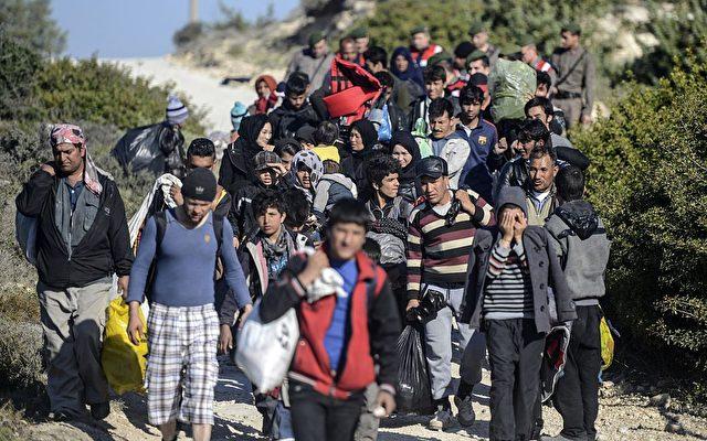 Flüchtlinge auf der Insel Chios. Foto: BULENT KILIC/AFP/Getty Images