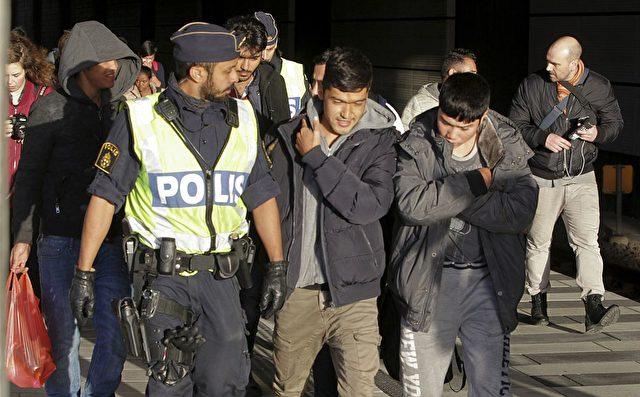 Flüchtlinge in Dänemark Foto: STIG-AKE JONSSON/AFP/Getty Images