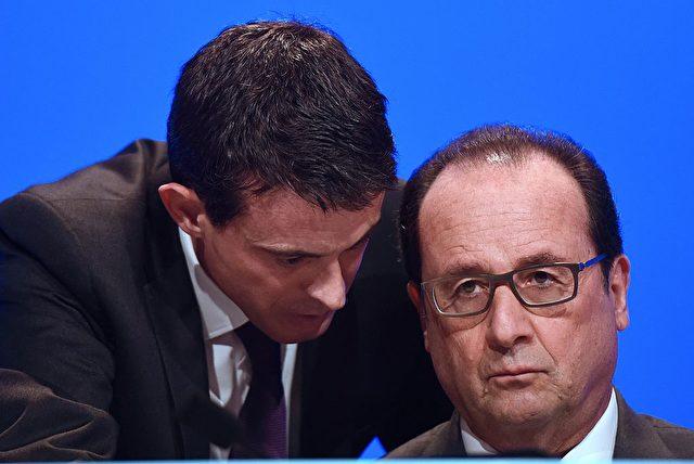 Der französische Premier Manuel Valls (l) und Frankreichs Präsident Francois Hollande, am 18. November 2016. Foto: STEPHANE DE SAKUTIN/AFP/Getty Images