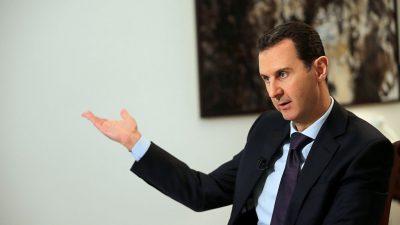 """Assad droht US-gestützten Kurden-Milizen mit Angriff und sagt: """"Die Amerikaner müssen gehen"""""""