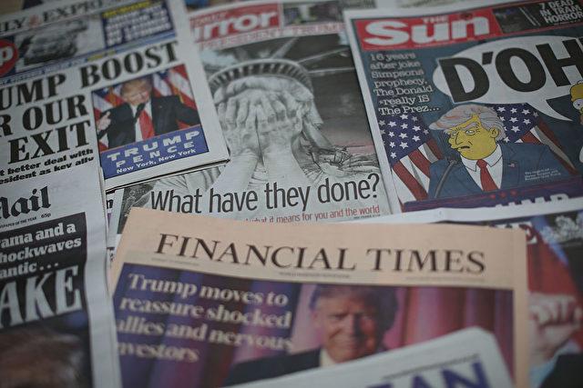Viele westliche Medien richten sich gegen den neuen US-Präsidenten Donald Trump Foto: Dan Kitwood/Getty Images