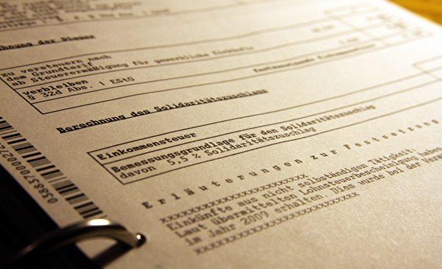 Steuerbescheid Foto: über dts Nachrichtenagentur