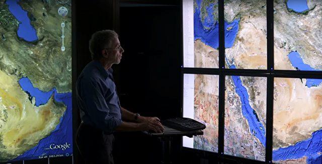 Wo Luftbilder nicht mehr weiterhelfen, oder wo die Piloten über Militärgebiet nicht fliegen dürfen, helfen Satellitenbilder. Vor 25 Jahren mussten dazu unzählige Karten betrachtet werden, heute geht dies mit ein paar Mausklicks. Foto: Screenshot/youtube