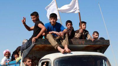 Irakische Spezialkräfte kämpfen sich in Mossul Straße um Straße voran