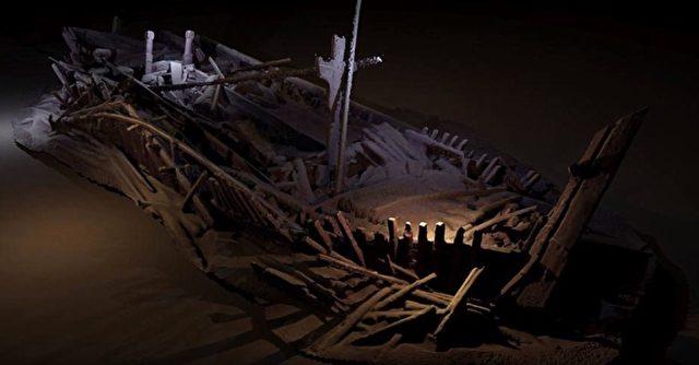 Ein osmanisches Schiff, wie es die Forscher am Meeresboden gefunden haben, Die Vollständigkeit der Wracks ist einzigartig. Foto: Screenshot/youtube