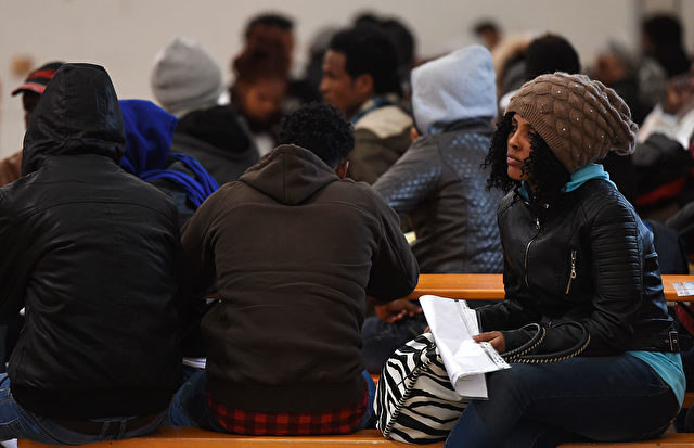 Flüchtlinge und Migranten in Erging, Deutschland. 15. November 2016. Foto: CHRISTOF STACHE/AFP/Getty Images
