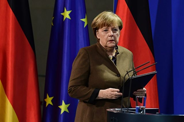 German Chancellor Angela Merkel arrives to address a press conference at the Chancellery in Berlin on December 23, 2016 after Tunisian Anis Amri, the suspected Christmas market attacker, was killed when he opened fire on Italian police in Milan. / AFP / Tobias SCHWARZ        (Photo credit should read TOBIAS SCHWARZ/AFP/Getty Images)