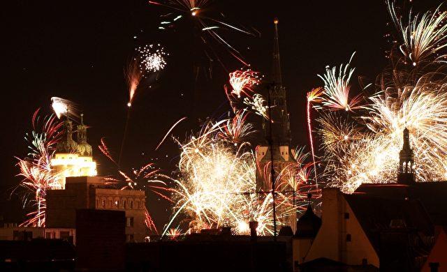 Silvesterfeuerwerk in Halle Foto: über dts Nachrichtenagentur
