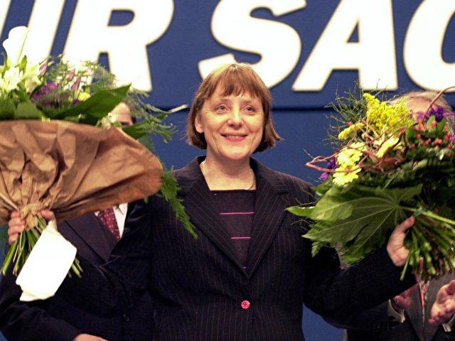 Im Jahr 2000 wurde Merkel erstmals an die Spitze der CDU gewählt - ebenfalls in Essen. Foto:Michael Jung/dpa