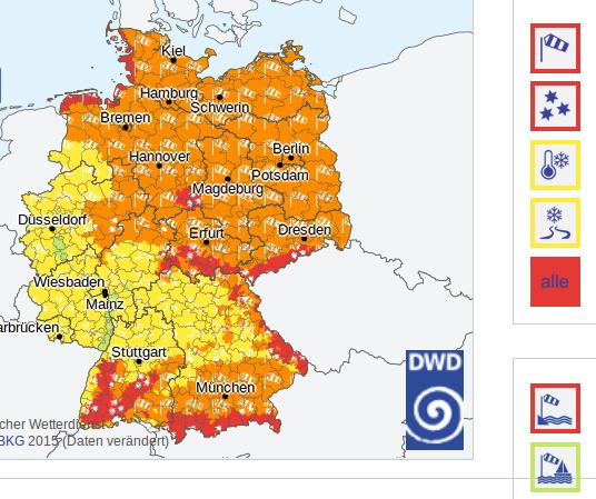 Deutscher Wetterdienst, 3. Januar 2017, 19:43 Uhr Foto: Screenshot/epochtimes