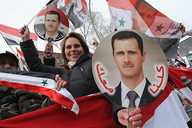 Unterstützer des syrischen Staatschef Baschar al-Assad. Foto: Sean Gallup/Getty Images