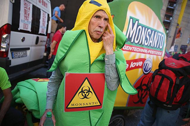 Protest gegen den Anbau von Genmais. Foto: Sean Gallup/Getty Images