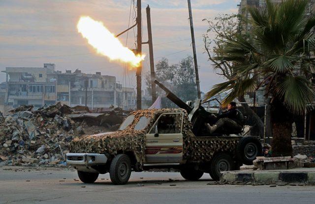 Rebellen in Syrien. (Symbolbild) Foto: STRINGER/AFP/Getty Images